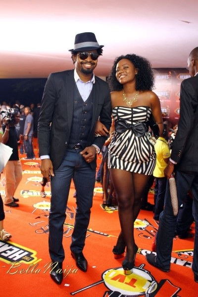 Comedian Basketmouth and wife Elisie