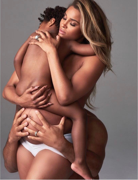 Just Like Beyonce, Ciara Poses For Semi-Nude Pregnancy -3023