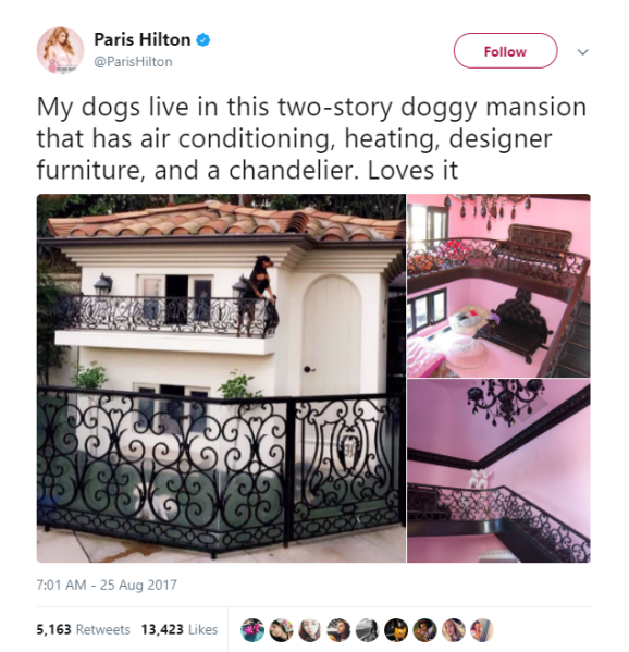 paris hilton dog mansion
