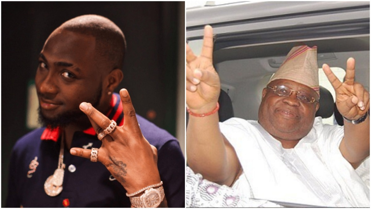 Davido's Uncle At It Again! Watch Senator Adeleke Grinds With Beauty Queens (Video)